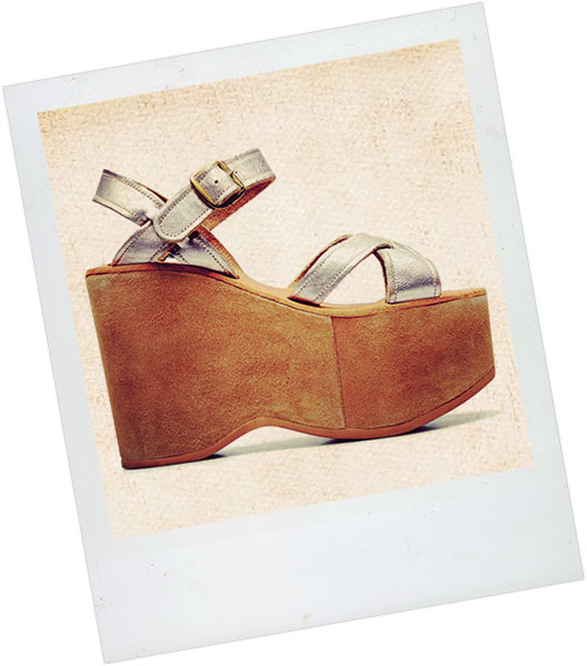 Polaroid of Original Kork-Ease wedge sandal